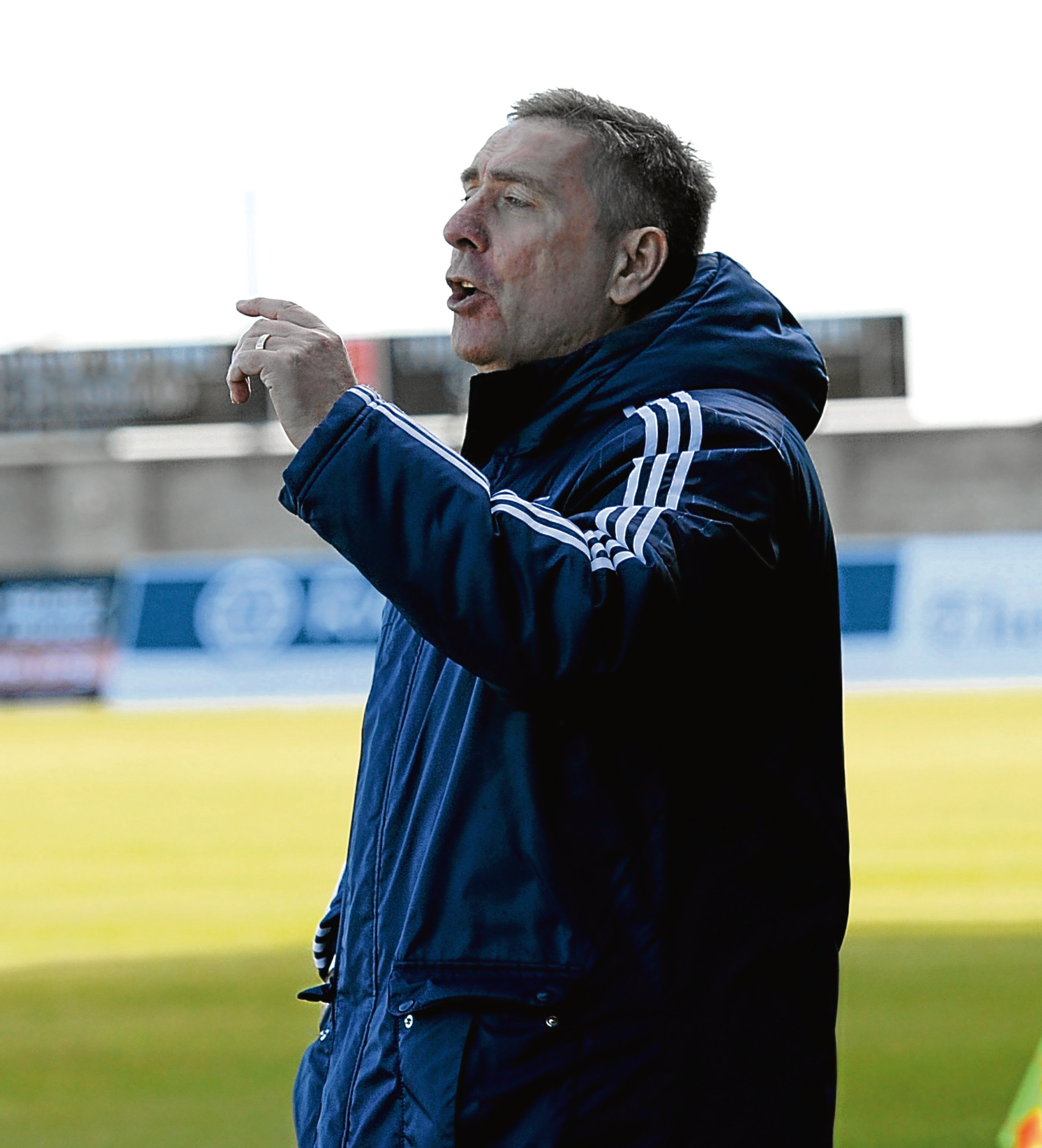 Peterhead Manager Jim McInally. Picture by Kath Flannery
