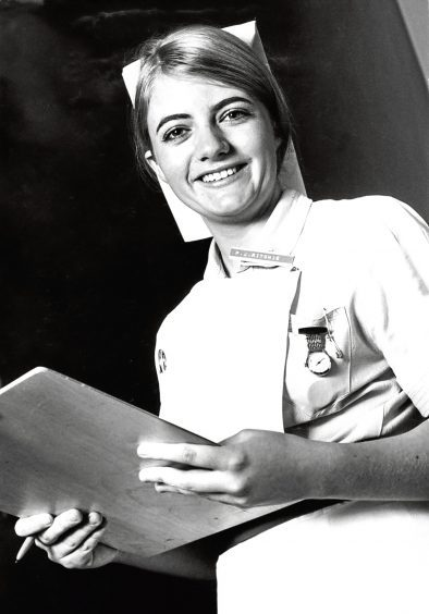 1971: Student nurse Pam Ritchie said she tried to make the festive season enjoyable for patients in hospital.