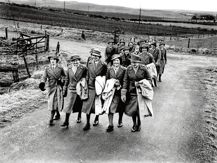 1940: A group of nurses arrive to help take care of patients at Cruden Bay Hotel during World War 2, where they played an important role.