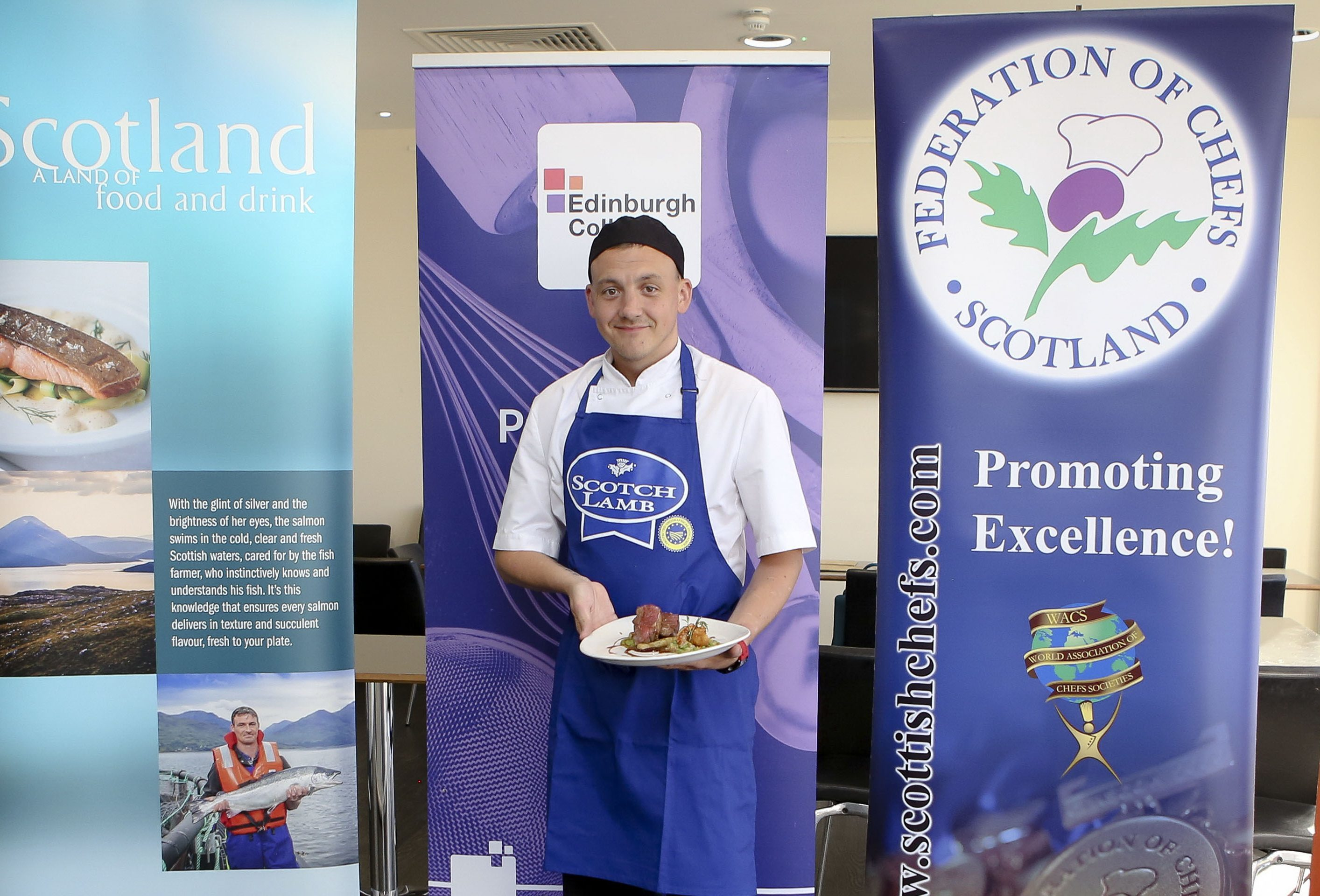Graham Mitchell, of the Cock and Bull, has been  crowned Scotch Lamb Surf and Turf Chef of the Year