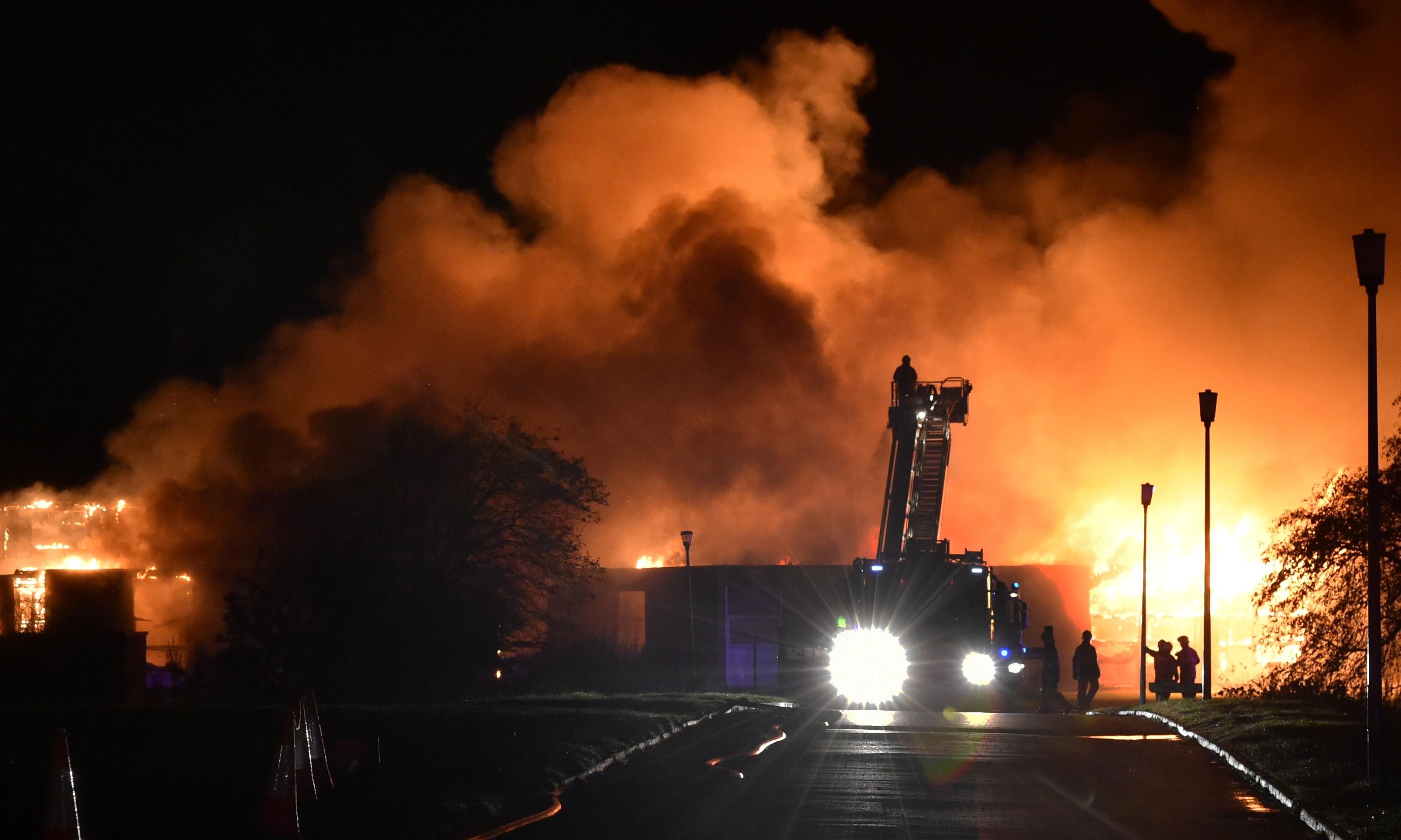 The blaze at Cordyce School