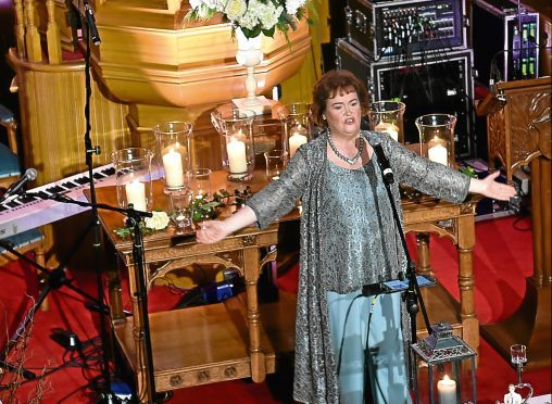 Susan Boyle visited Udny Green to help raise funds for Friends of ANCHOR's Dream Big 20th anniversary campaign.