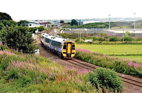A train near Dyce.