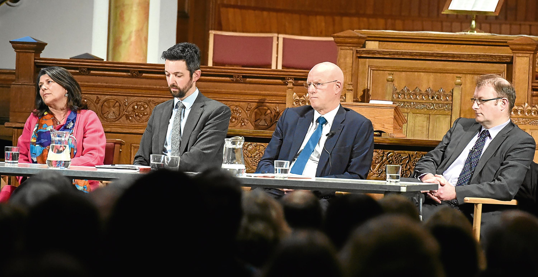 The meeting at Peterculter Parish Church, Peterculter, Aberdeen, with the AWPR on the agenda.