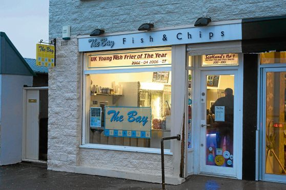 Aberdeen, Aberdeenshire, UK, January 25th, The Bay in Stonehaven has been crowned the best British Fish & Chip Shop for 2013.  (Photo Ross Johnston/Newsline Scotland)