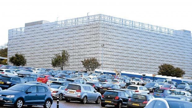 New highrise car park at ARI, Aberdeen.