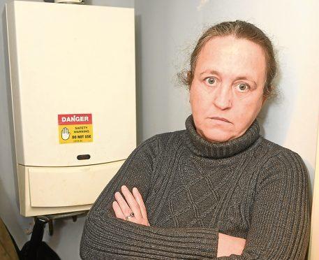 Sandra Christie's boiler has been broken for more than a week.
