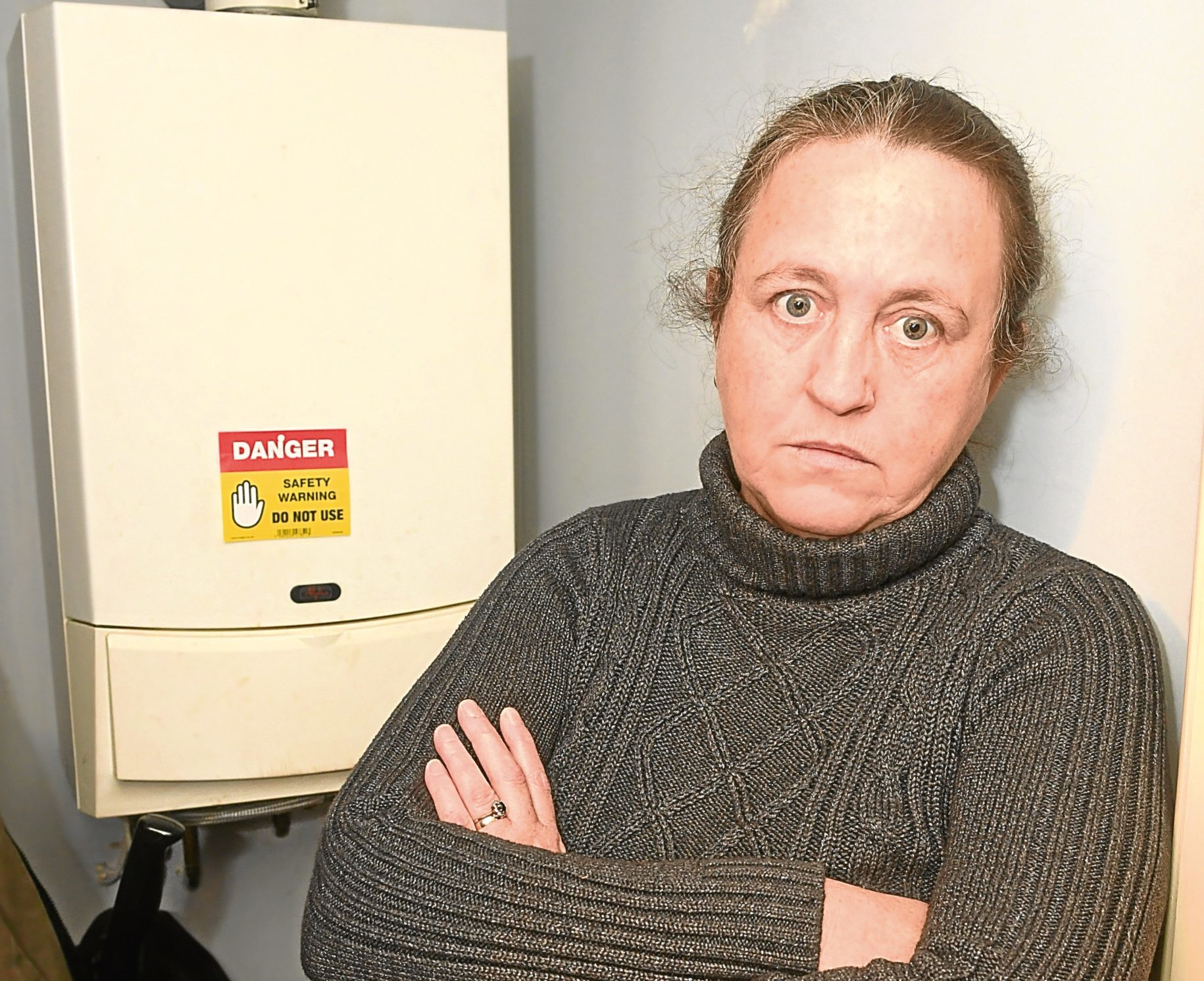 Sandra Christie's boiler has been broken for more than a week.