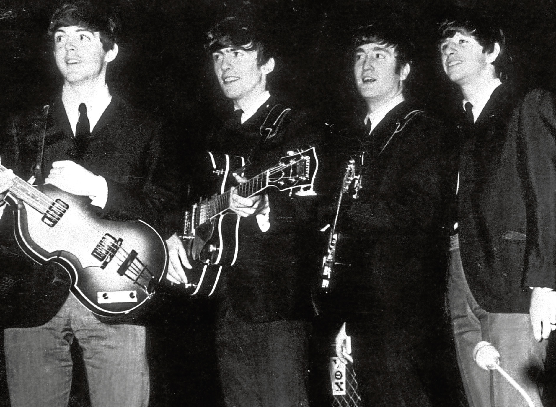 The Beatles at the Beach Ballroom in 1963.
