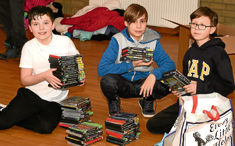 Riverbank Primary pupils Jack Mair, Igor Zajac and Przeuyslaw Kozlik.