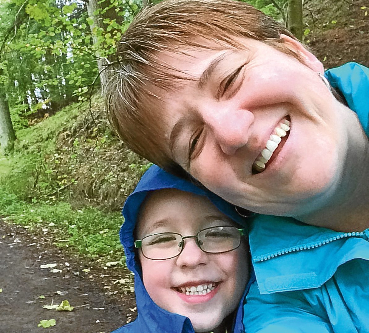 Denise Middler with her son Owen.