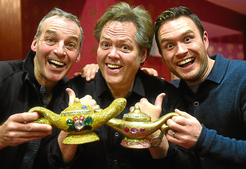Aladdin stars Alan McHugh, Jimmy Osmond and Jordan Young.