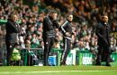 Dons boss Derek McInnes at Celtic Park.