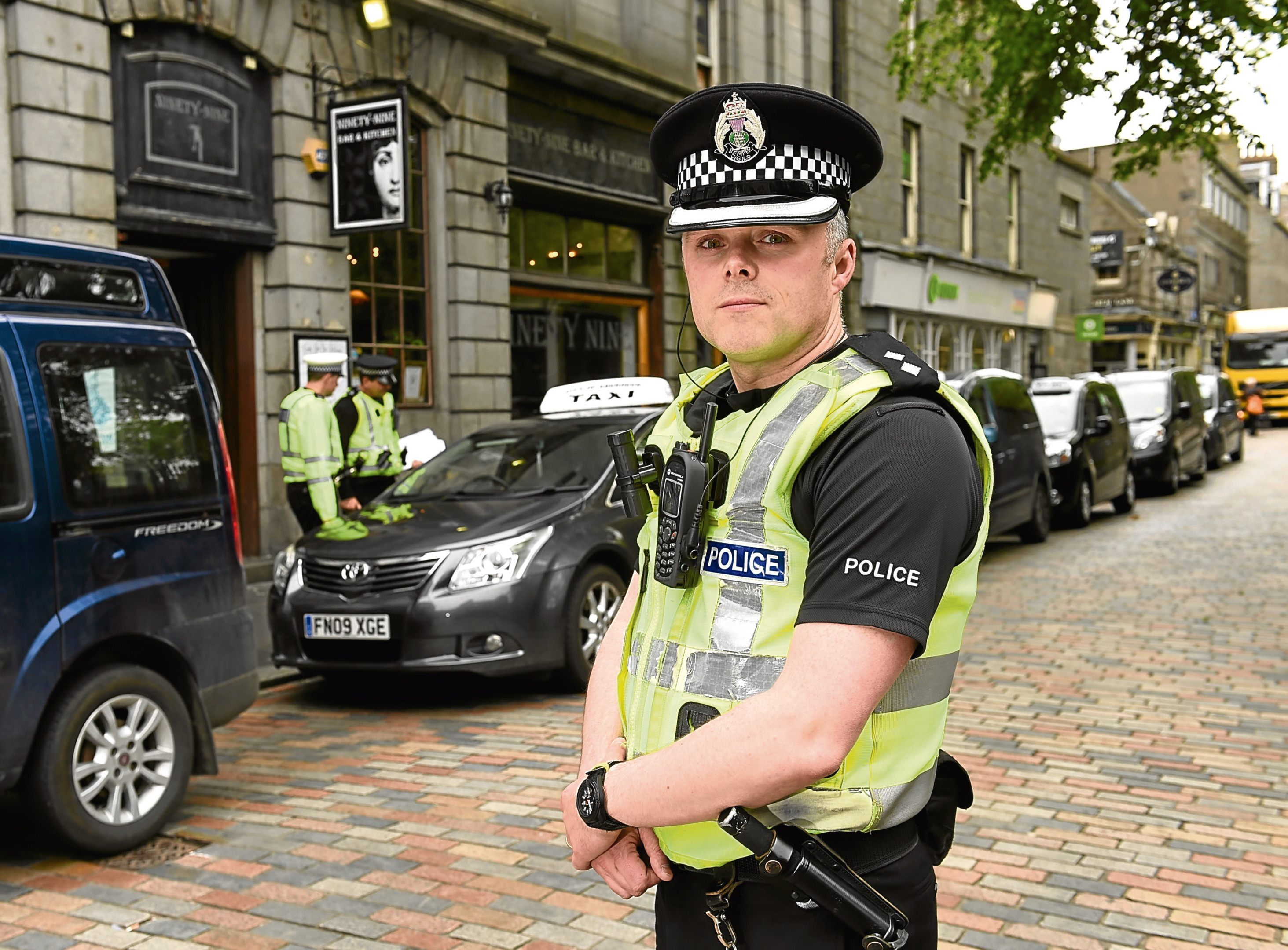 Pictured is Licensing Inspector Kenny McGeough during an operation on taxi licensing and road policing on Back Wynd, Aberdeen. Picture by DARRELL BENNS     Pictured on 19/05/2017