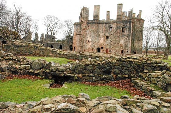 The ruins of Huntly Castle, Huntly