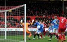 Aberdeen v Rangers Scottish Premiership Pittodrie Stadium Pictured is Aberdeen's Andrew Considine hitting the bar with a header. Picture by DARRELL BENNS Pictured on 03/12/2017