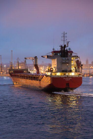 Vessel in the harbour by Lauren Polson