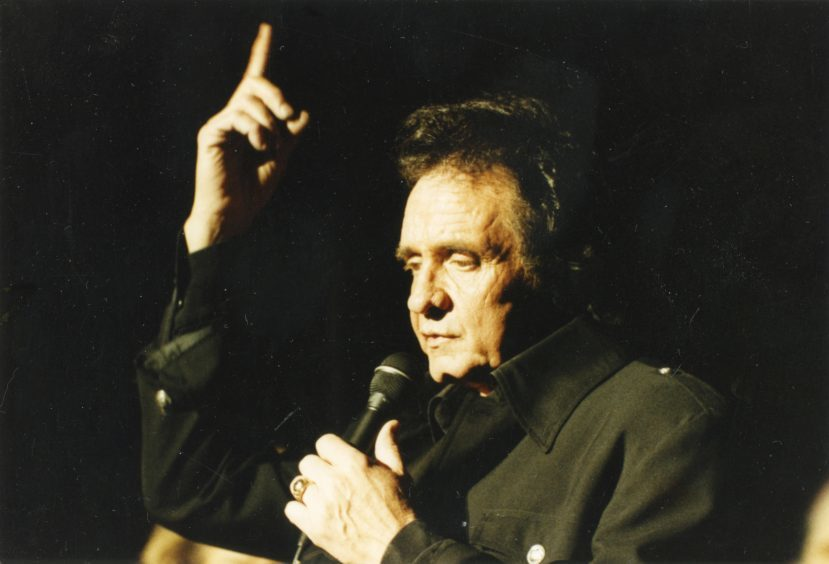 1991: The Man in Black Johnny Cash at the Capitol in the early nineties.