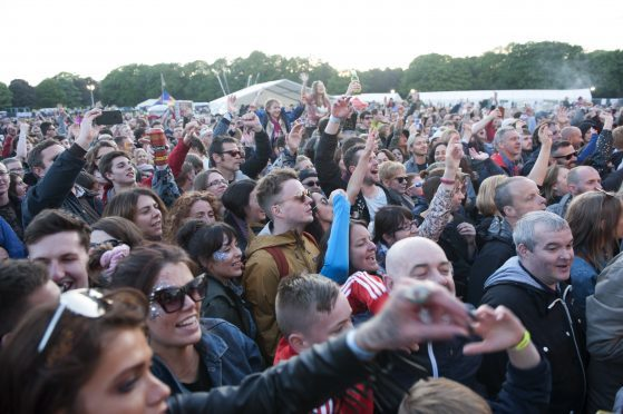 Crowds at last year's Enjoy Music Festival.