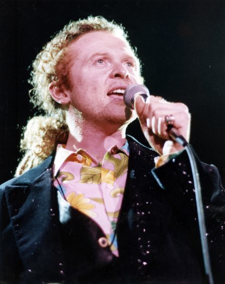 1992: Mick Hucknall of pop group Simply Red at the AECC.