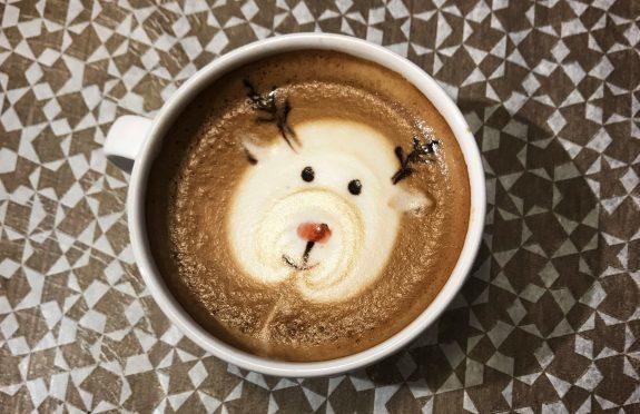 Rudolph was created by Aberdeen barista Lorna Wilson.