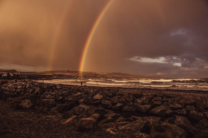 Rainbow in Stonehaven by Charlotte Taylor
