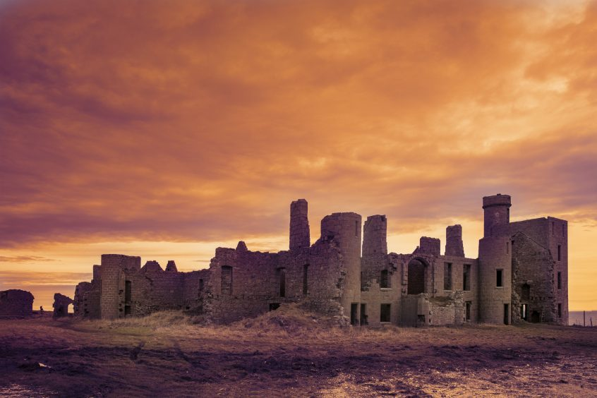 Slains Castle by Edith Peterson