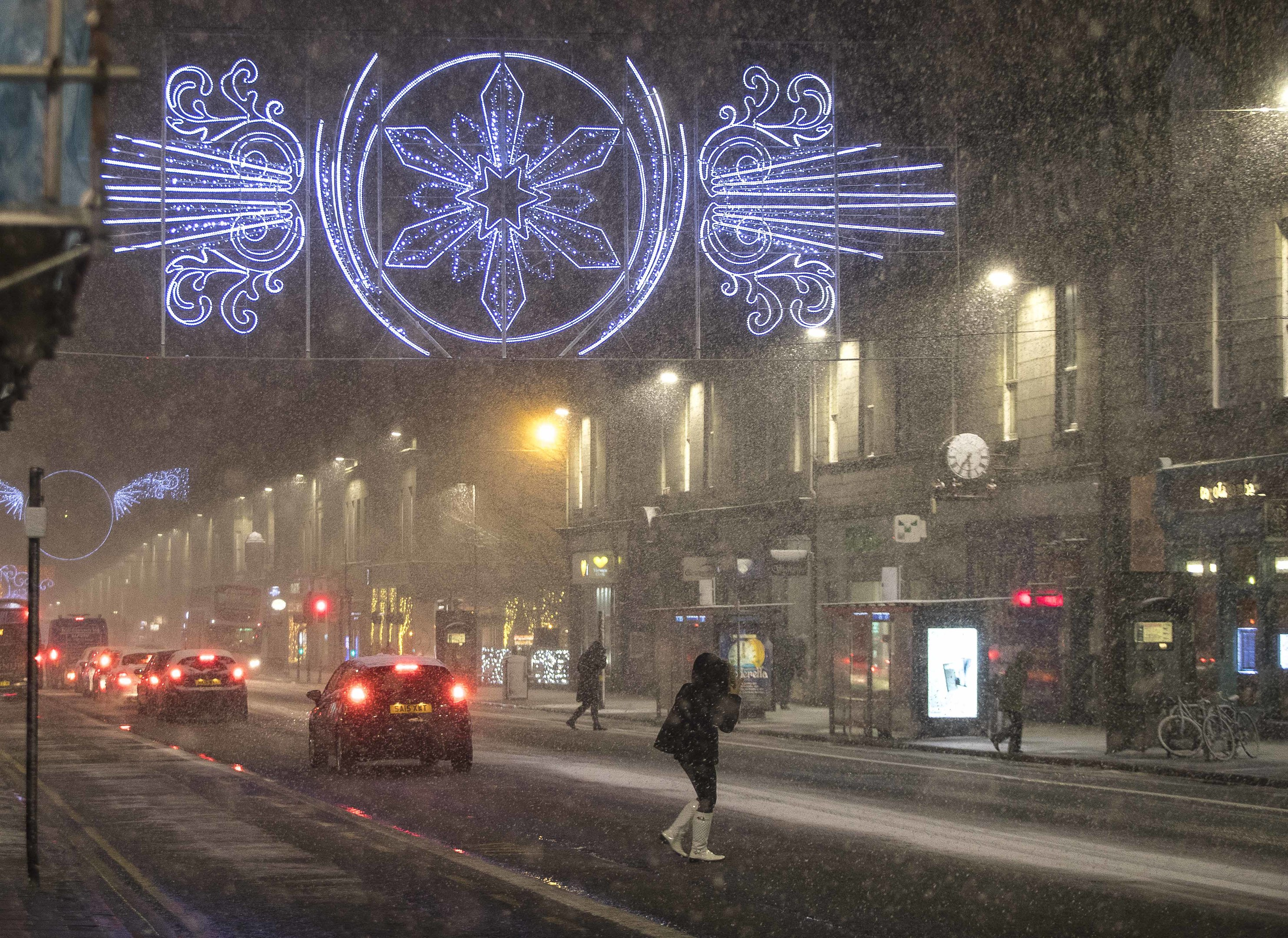 A wintry Union Street this monrning