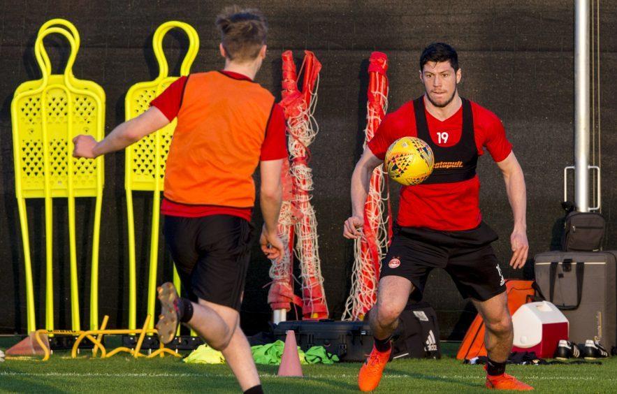 Aberdeen's Scott McKenna at training.