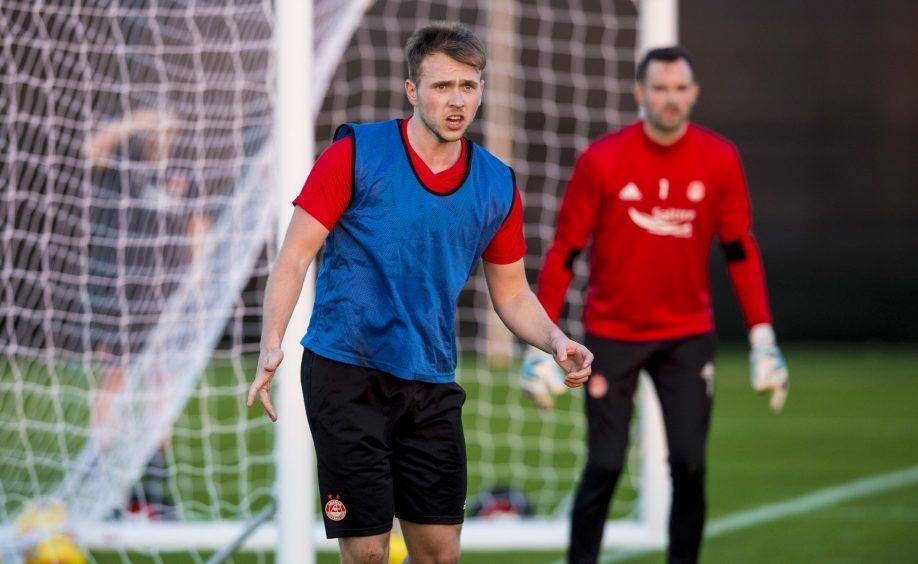 Aberdeen's Greg Stewart at training.