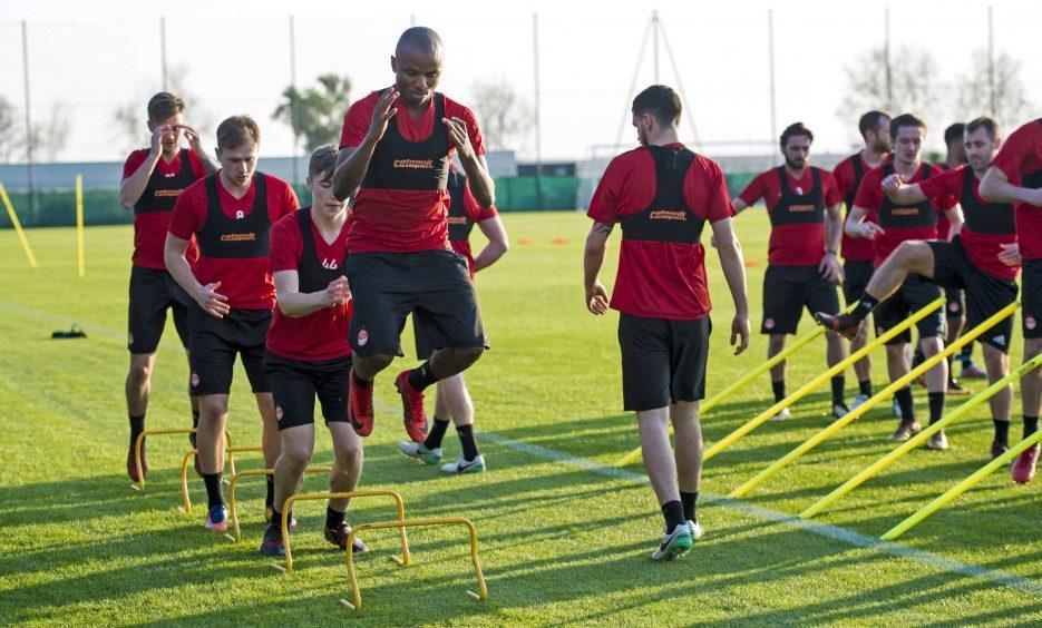 Aberdeen's Chidi Nwakali at training.