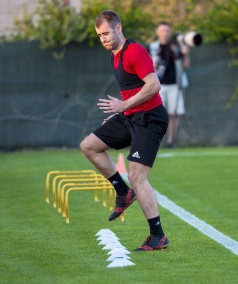 Aberdeen's Niall McGinn at training.
