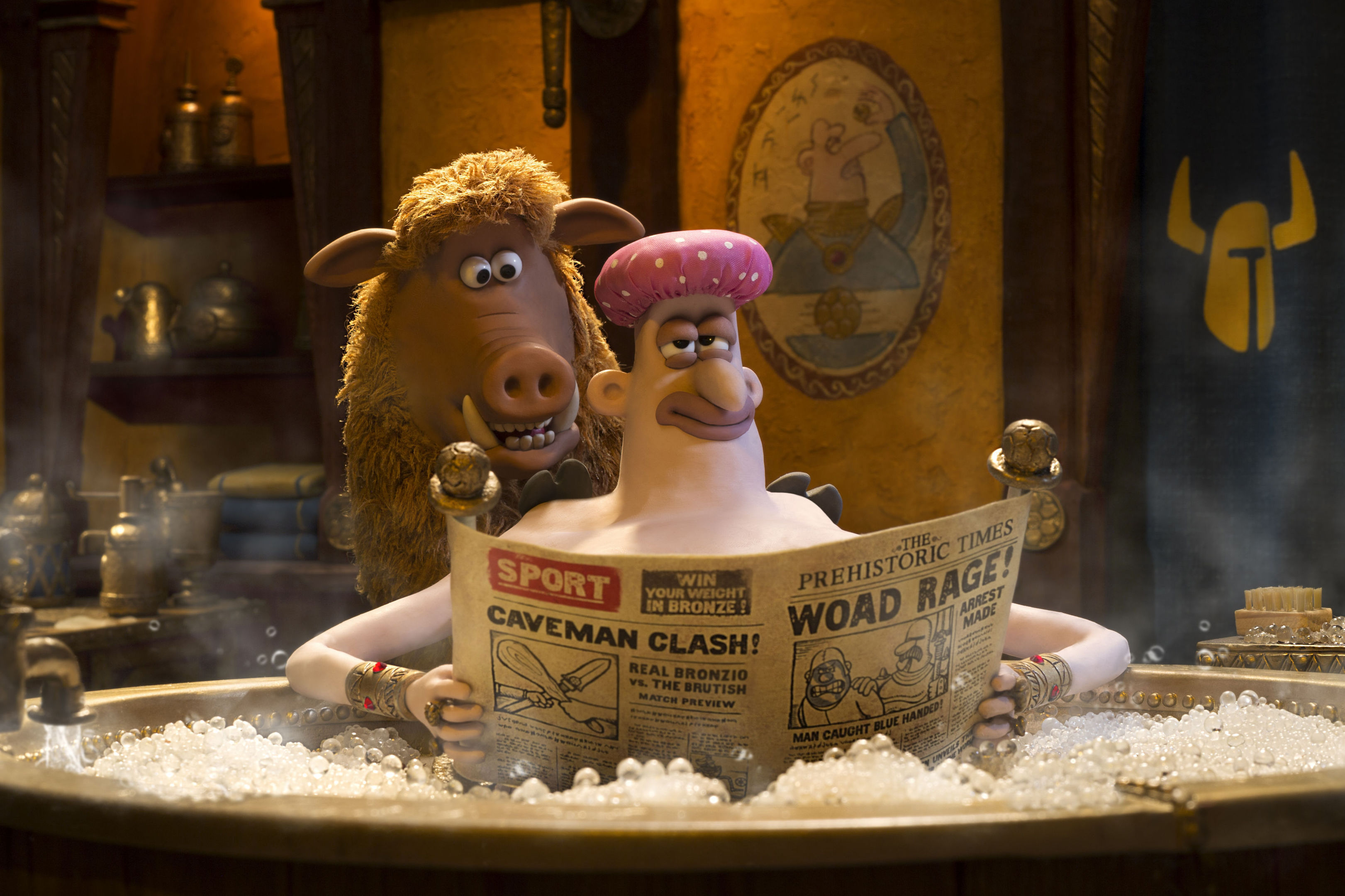 Hobnob (voiced by Nick Park) and Lord Nooth (Tom Hiddleston).