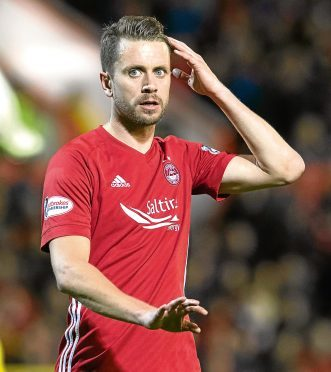Kari Arnason in action for Aberdeen.
