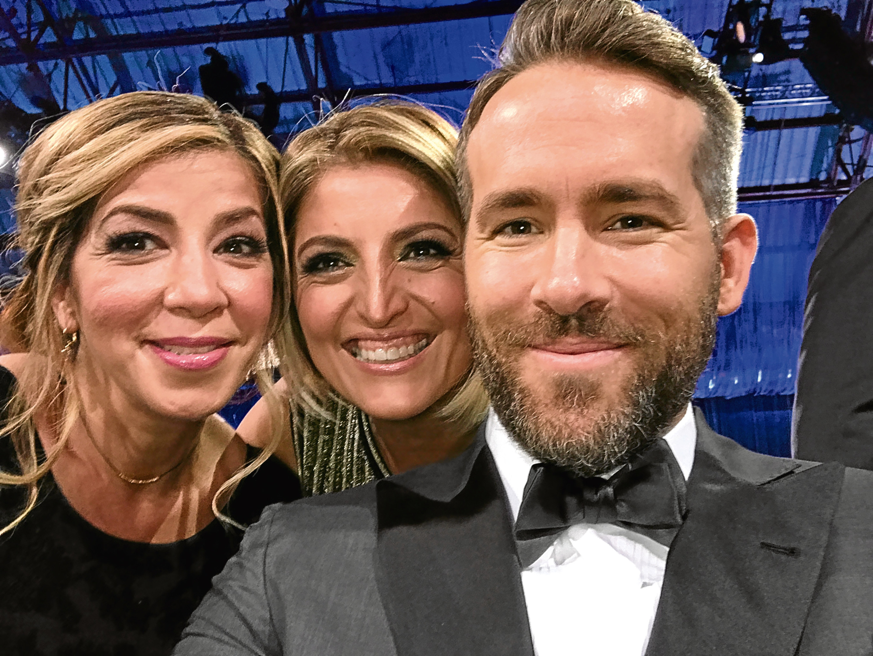 Farrah Zamani Tauvaa, Moji Shand and Ryan Reynolds