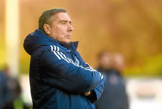 Peterhead's manager Jim McInally.