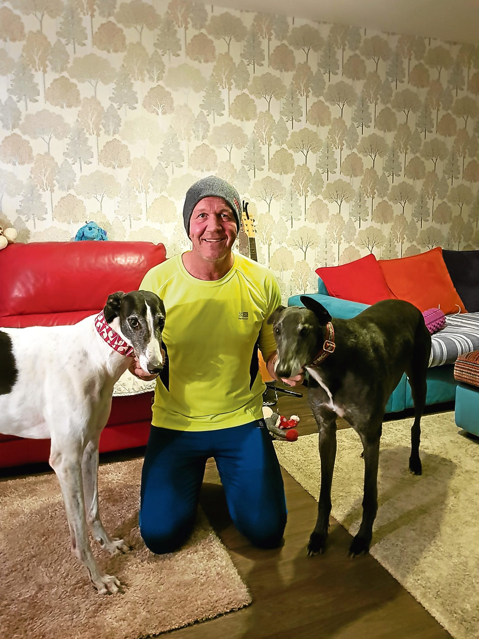 Craig smashed his target of £400, raising more than £1,000 for the Give a Greyhound a Home charity.