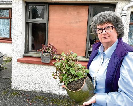 Councillor Owen's home in Ellon has been targeted by vandals.
