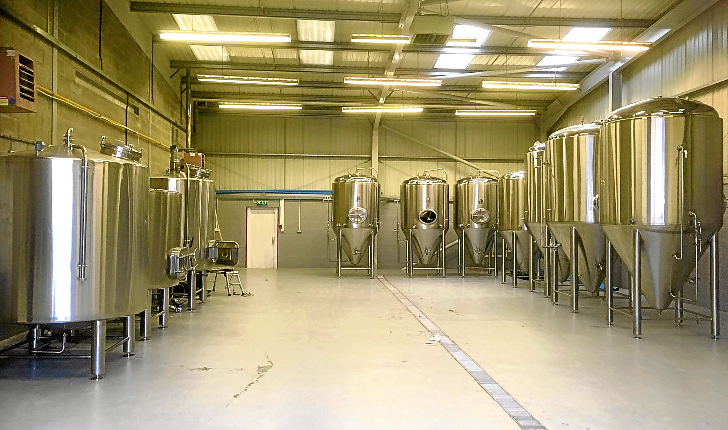 The new Fierce Beer brewery in Dyce is taking shape.