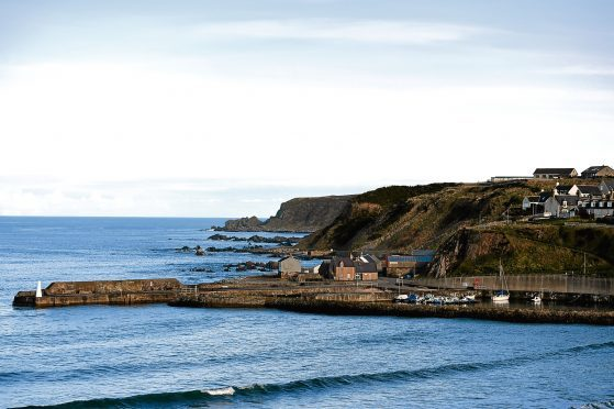 Cullen Harbour, from the old railway viaduct
