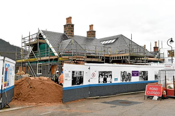 Work continues on the old Ballater train station.