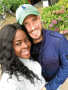 Danny Coffey with his fiancee Suzette Asare.