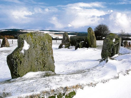 Easter Aquhorthies standing stones