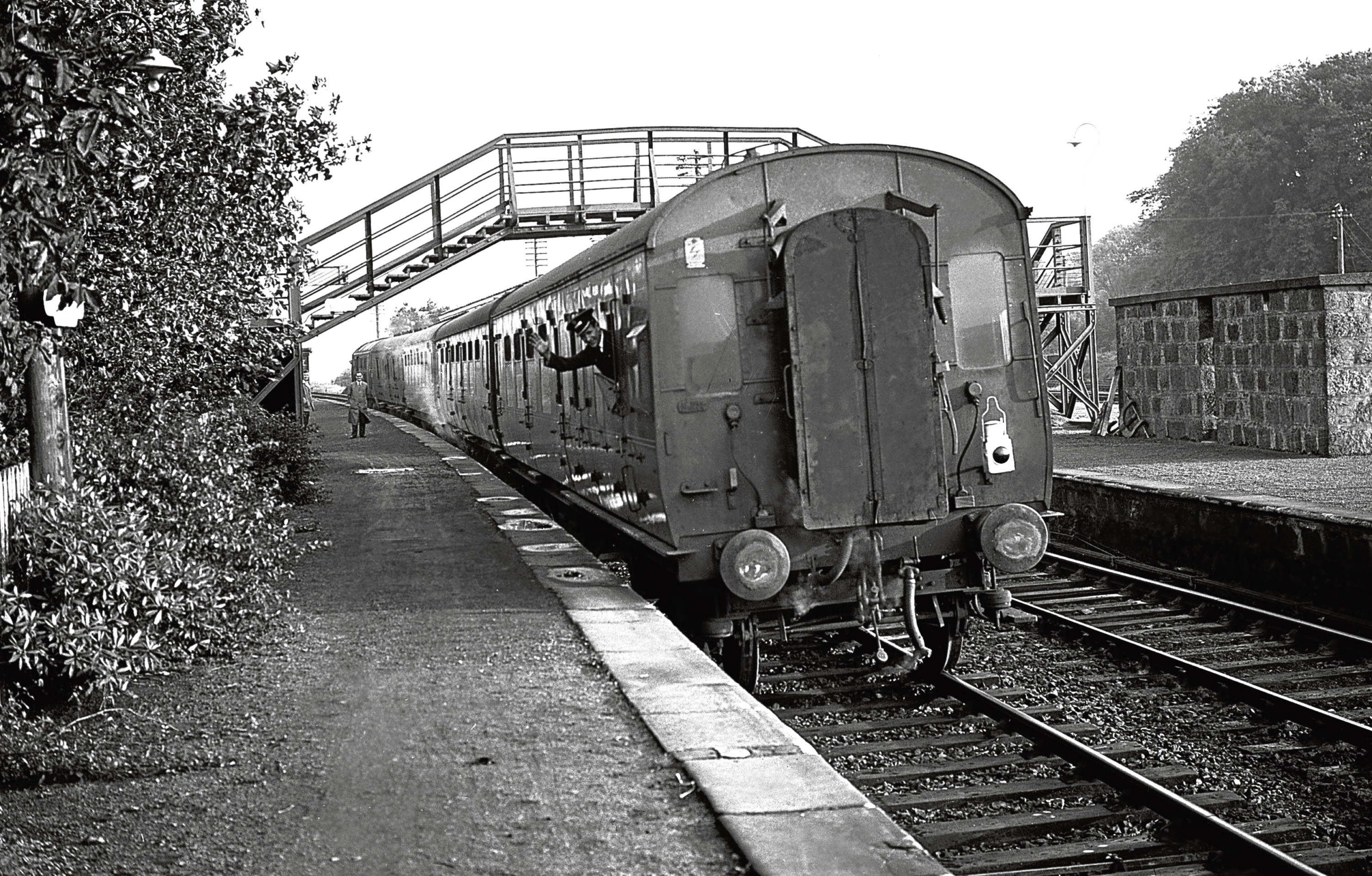 Ellon Station, which saw its last passenger train in 1965.