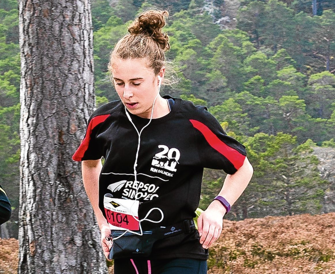 Kerry Prise on her way to winning the Devil of Deeside title in 2017.