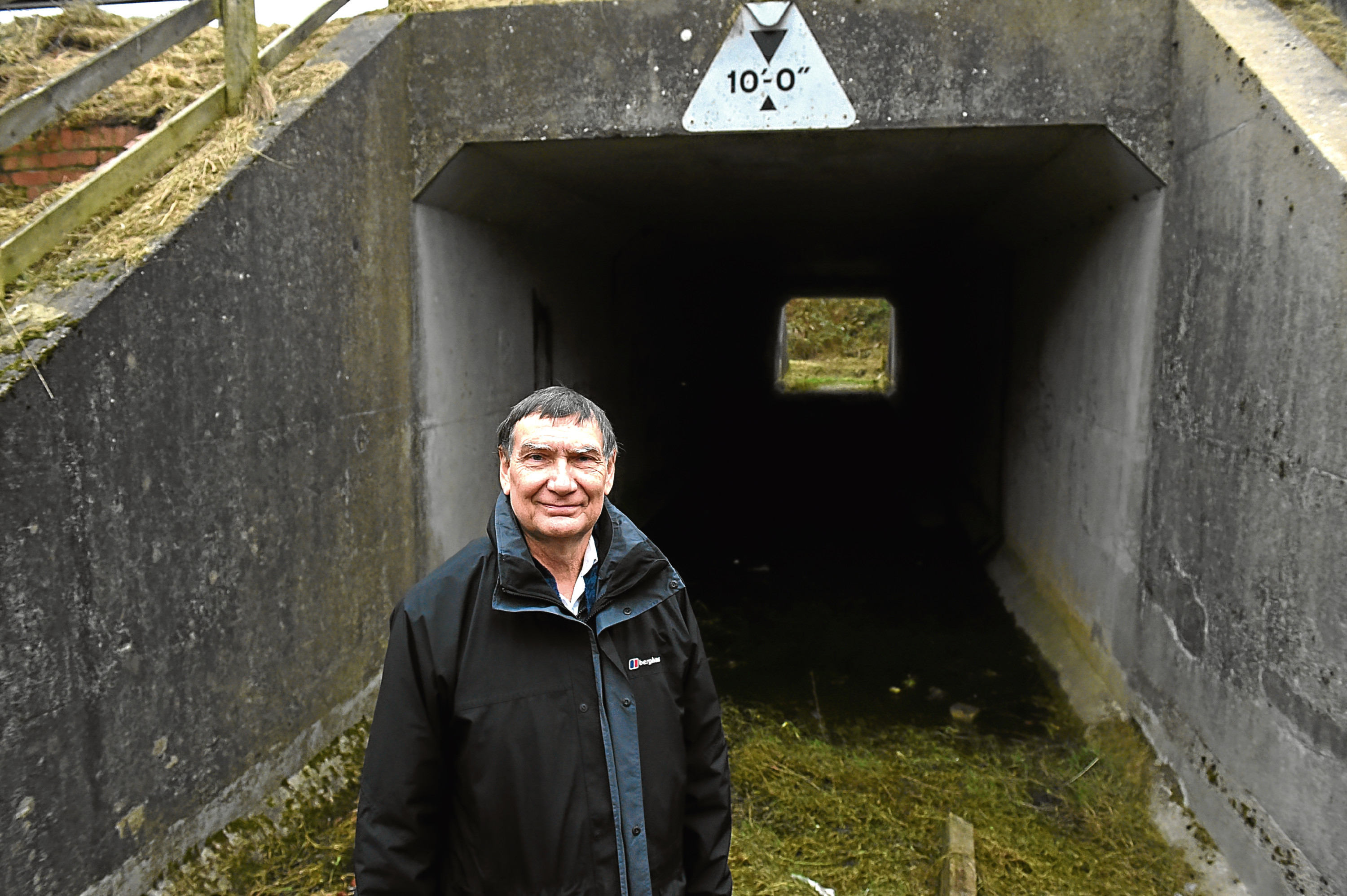 Michael Morgan at the underpass in Newtonhill.