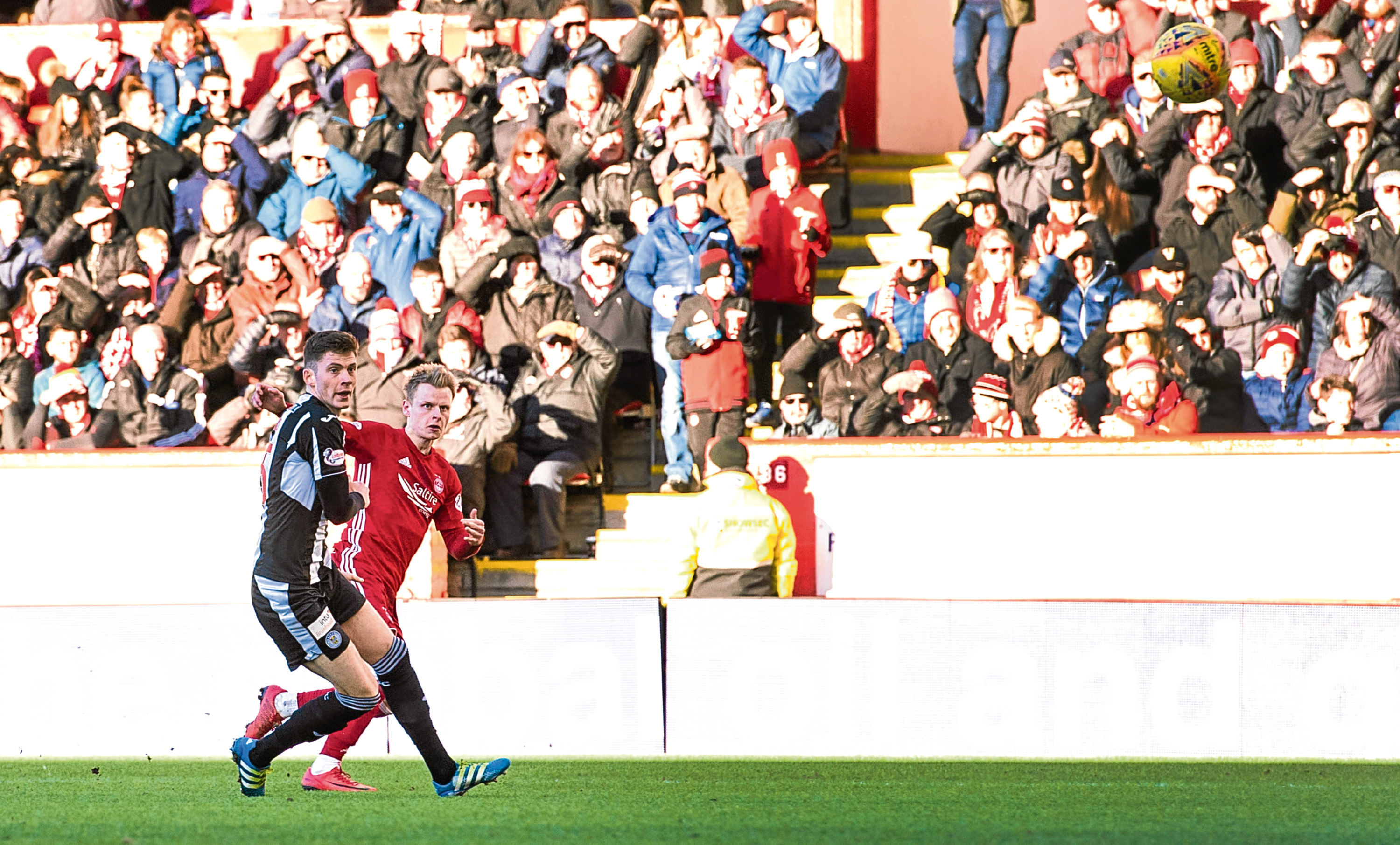 Aberdeen's Gary Mackay-Steven scores the sensational fourth against St Mirren in the Scottish Cup last year