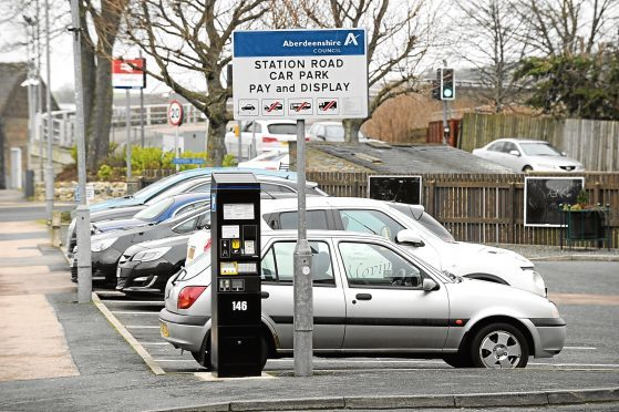 Currently car parks across Aberdeenshire have free periods varying in length from 30 minutes up to an hour.