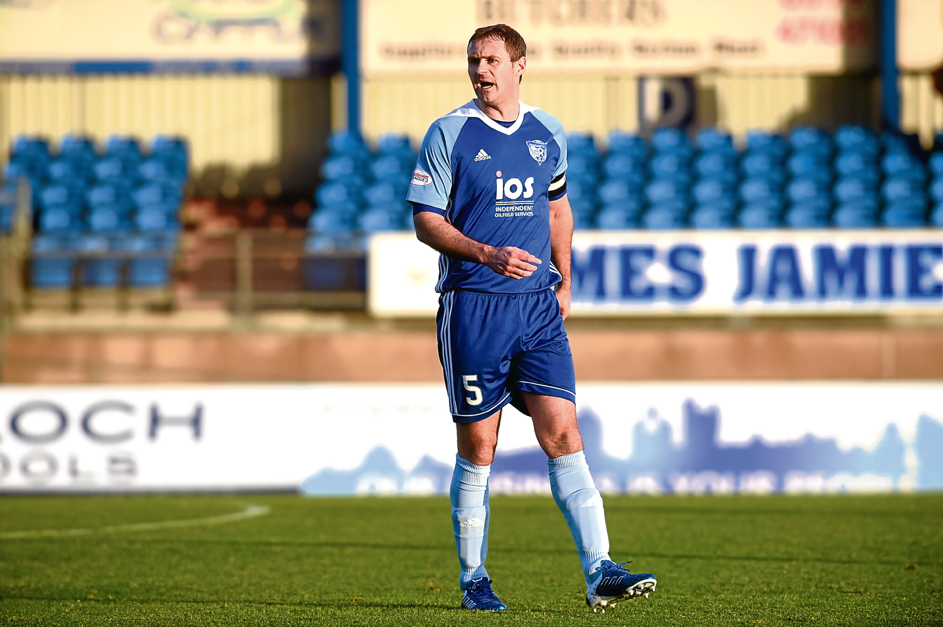 Pictured is Peterhead's David McCracken. Picture by DARRELL BENNS.