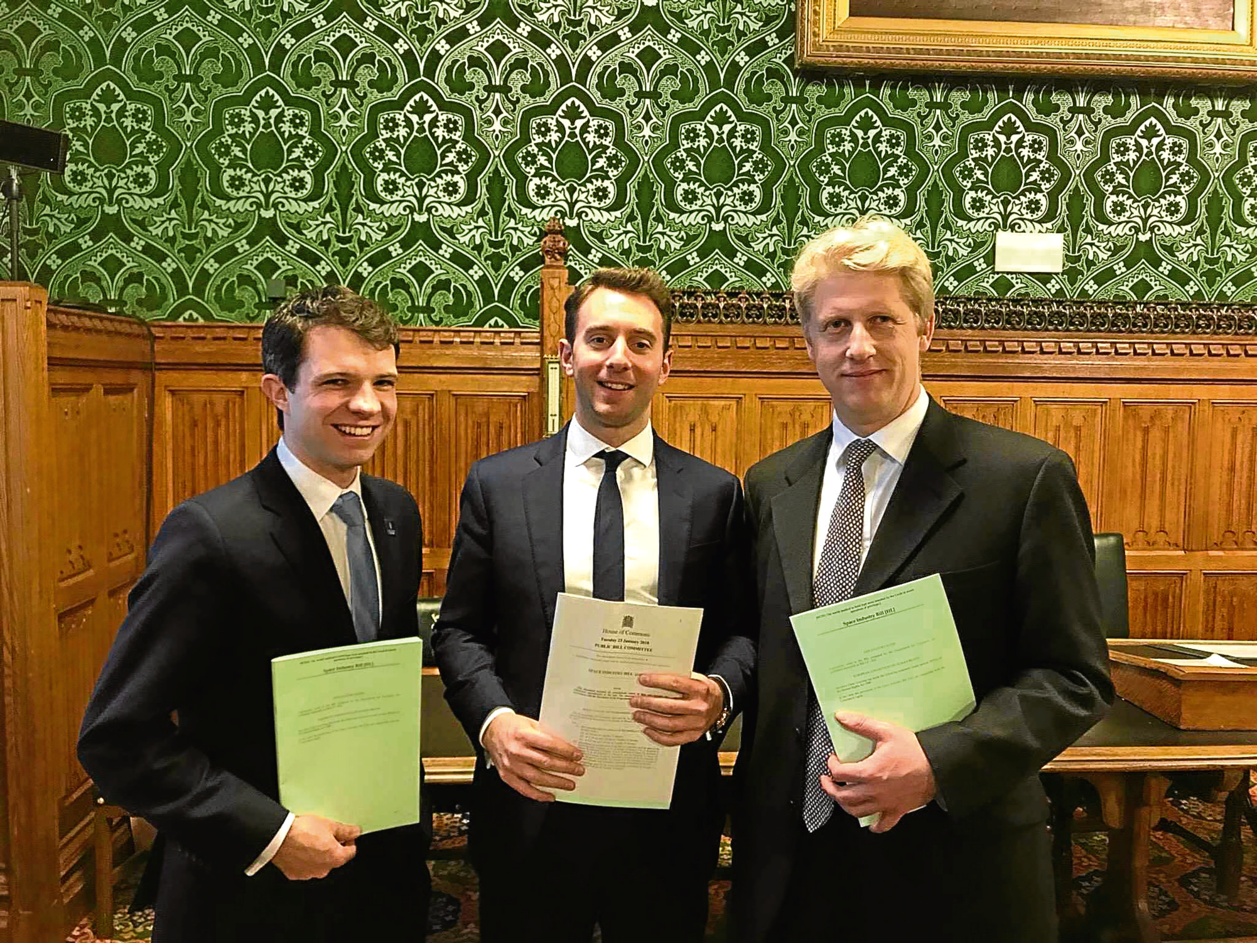 Andrew Bowie MP with Ochil and South Perthshire MP Luke Graham and the Space Minister Jo Johnson MP.